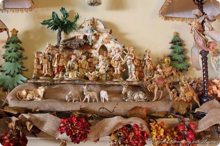 christmas decor bargain decorating with laurie - Nativity Christmas Decorations