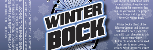 image of Silver City Brewing's upcoming Winter Bock courtesy of the brewery