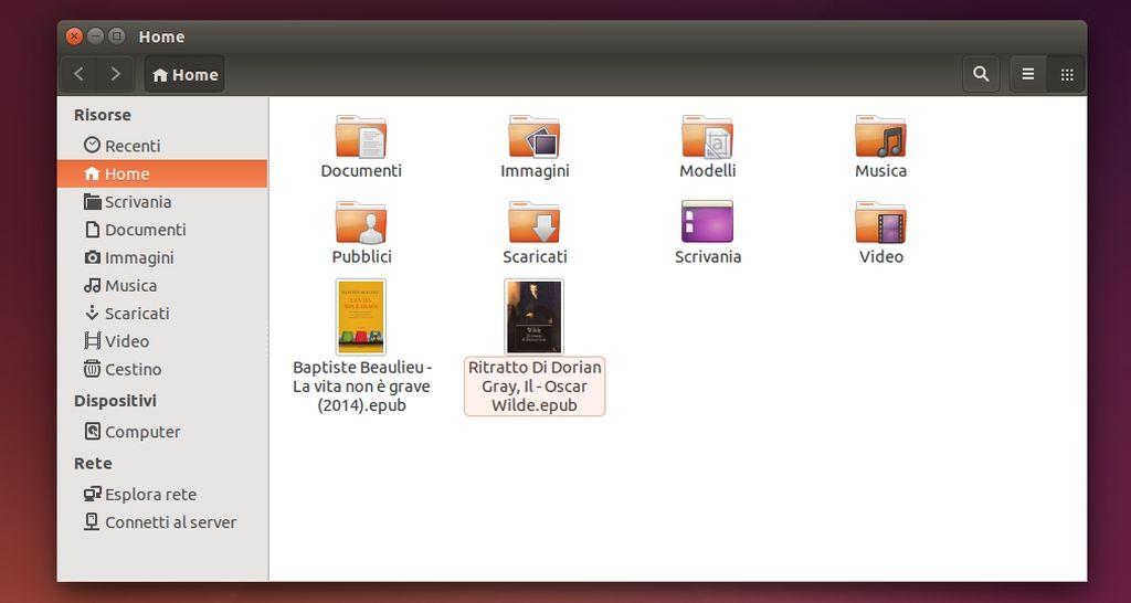 Epub Thumbnailer in Nautilus su Ubuntu Linux