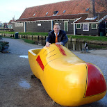 giant yellow clog at the zaanse schans in zaandam in Zaandam, Noord Holland, Netherlands