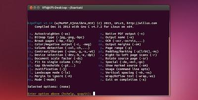 K2pdfopt in Ubuntu Linux