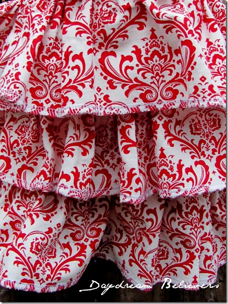 gfs112 014one of a kind christmas skirt handmade boutique apparel red and white damask3