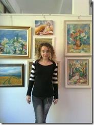 Tabloul in ulei pe panză Rapirea Persefonei al artistei Corina Chirila la salonul de toamna din Herastrau organizat de asociatia artistilor plastici Bucuresti
