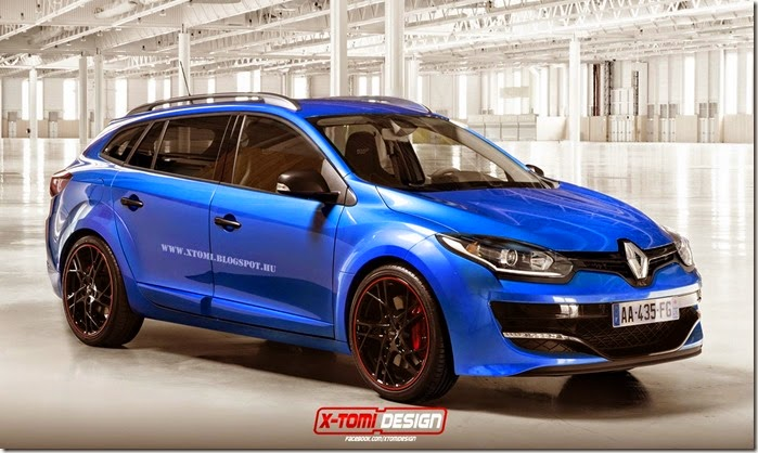 2014 Renault Megane Estate RS Rendered by XTomi Design