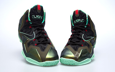 nike lebron 11 gr army slate 9 03 parachute gold Nike LeBron XI is Coming out on October 12th. New pics!