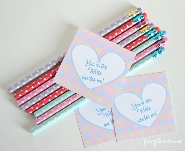 You're the Write One Valentine Printable