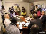 Une conférence de rédaction à Radio Okapi, Kinshasa.