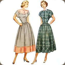 1950sShirtwaist Dress Pattern_Simplicity 2481
