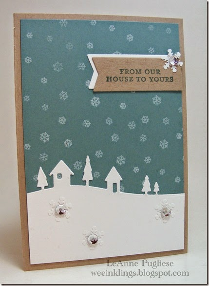 LeAnne Pugliese WeeInklings Christmas House Silhouette Merry Monday 142