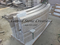 12' Round Cypress Fountain Pool Surround, Bianco Catalina Granite