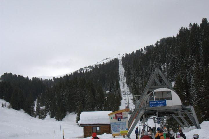 The long lift to the top of the long blue run