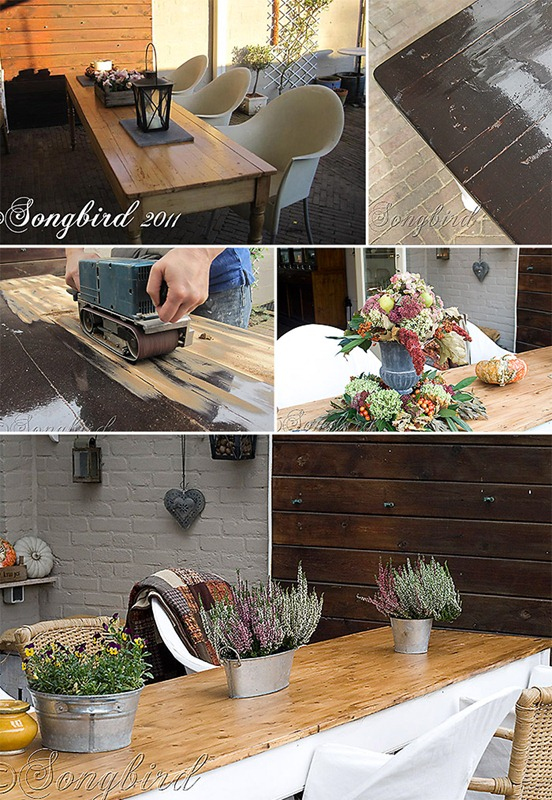 Songbird Refectory Table Makeover