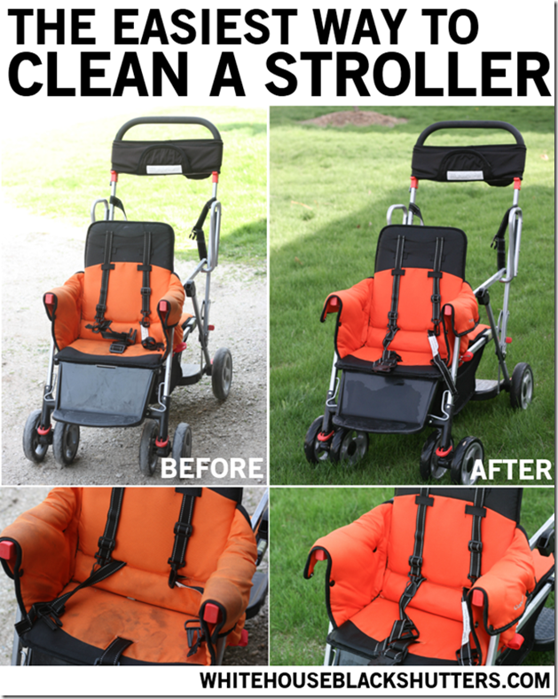 The easiest way to clean a stroller at White House Black Shutters