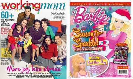 Working Mom and Barbie Dec 2014 covers