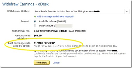 odesk exchange rate