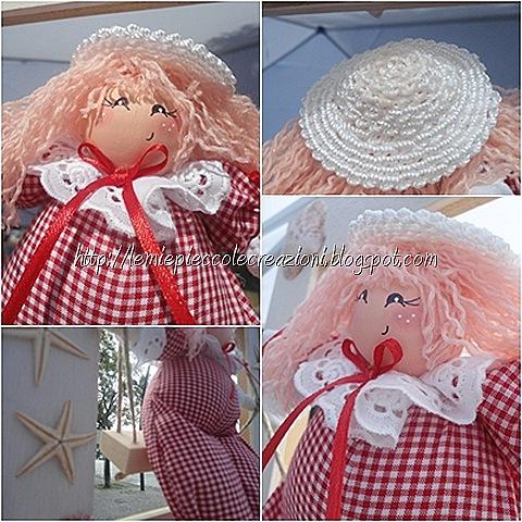 bambola cicciotta con cappellino particolari