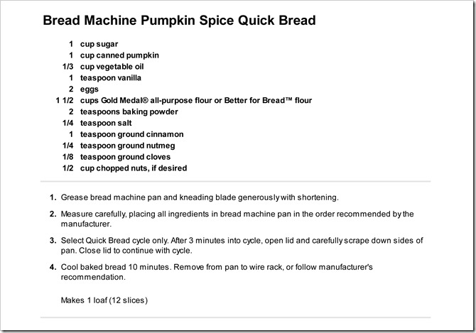 2012-09-18 pumpkin bread recipe