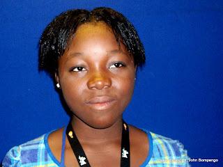 Rachel Mwanza. Radio Okapi/ Ph. John Bompengo