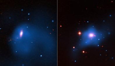 galáxias NGC 4342 e NGC 4291