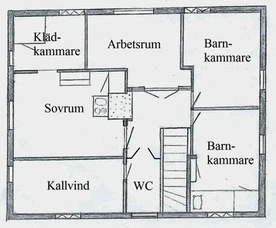 Ombyggnad övervåning, efter med text