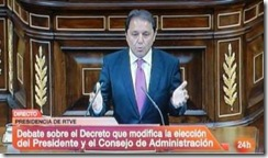 Juan Luis Gordo (PSOE) -  da Comissão Mista de Controle Parlamentar da RTVE.