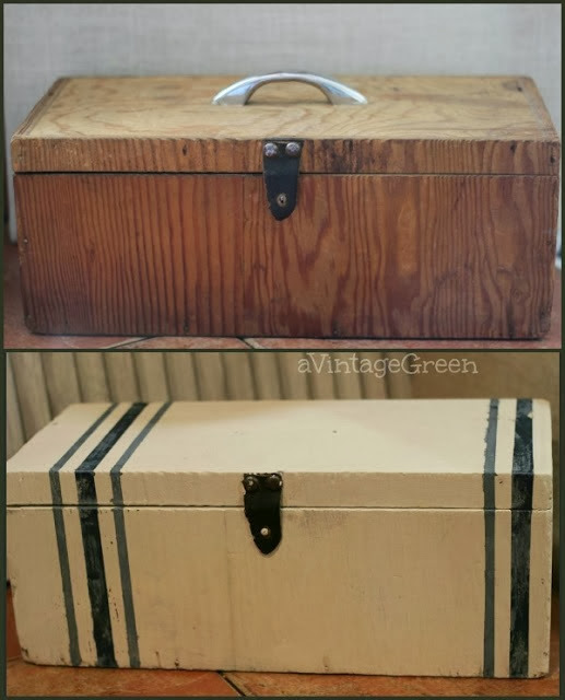 before and after painted box