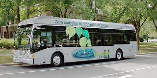 MTA is leasing this zero-emission hydrogen-fueled Van Hool bus from PureMotion 120 fuel cell supplier UTC Power for one year, and will host a kickoff event in Flint on May 21.
