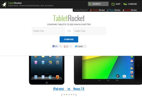 Comparar tablets con TabletRocket
