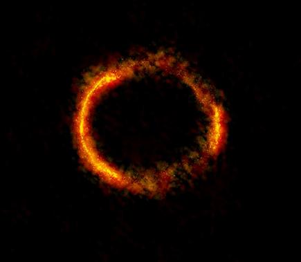 galáxia SDP.81 afetada por lente gravitacional