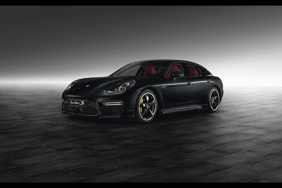 porsche exclusives jet black metallic panamera turbo s looks mean