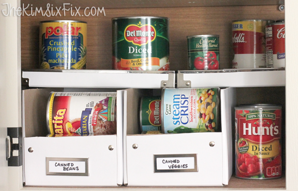 Using cardboard boxes in pantry