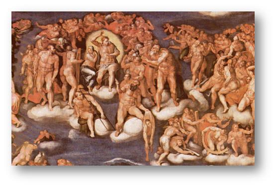 El Juicio Final, copia de Marcello Venusti, 1549.