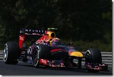 Webber con la Red Bull nel gran premio d'Ungheria 2013
