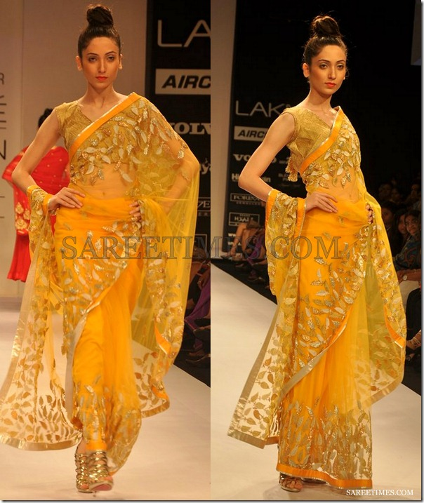 Amrita_Thakur_Yellow_Saree