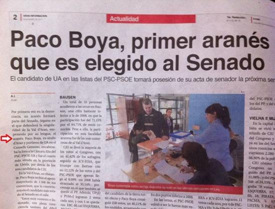 Paco Boya elegit al Senat espanhòl