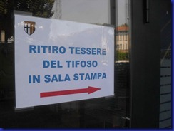 ritiro tessere tifoso