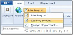windows live writer add blog acct