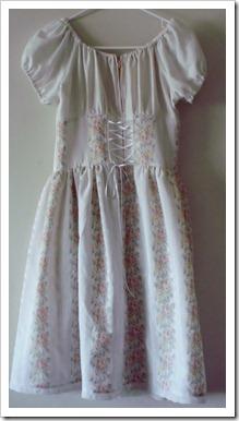 Vintage style high-waisted dress