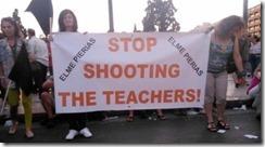 oclarinet - Professores manifestam-se na Grécia.Jul.2013