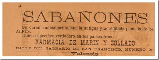 1888 sabañones