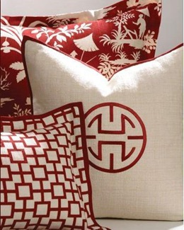 crystal lake asian-inspired pillows by Legacy Home