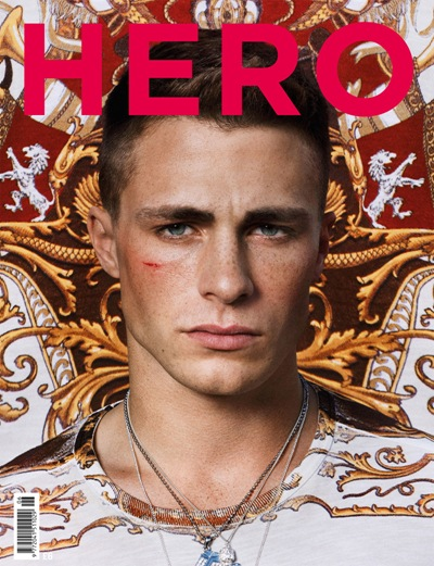 Colton Haynes by Danielle Levitt for HERO #6.  Styled by Andrew Davis.