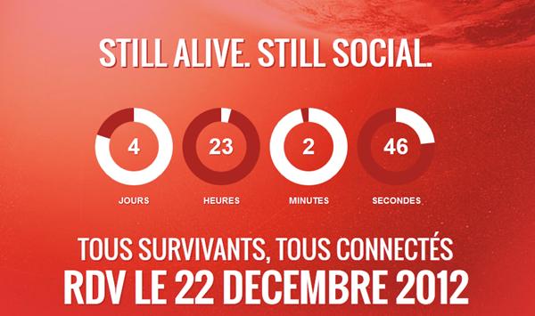 """""""22 décembre 2012"""" le réseaux social post-apocalyptique"""