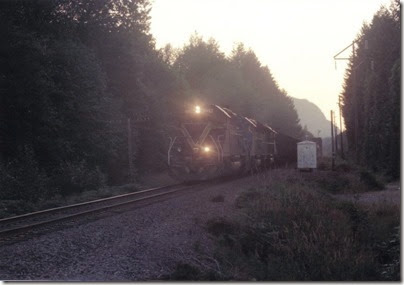 MPI SD40-2M #9042 near Money Creek Campground in 1994