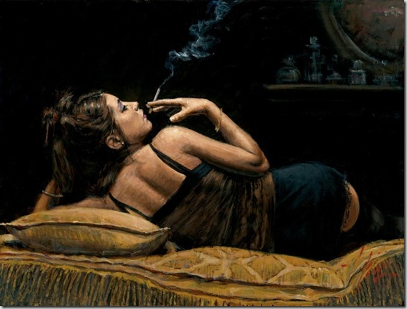 Fabian Perez 1967 - Argentine Figurative painter - Reflections of a Dream - Tutt'Art@ (22)