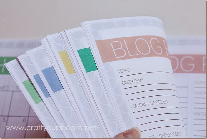 Blog Planner Monthly Color Coding