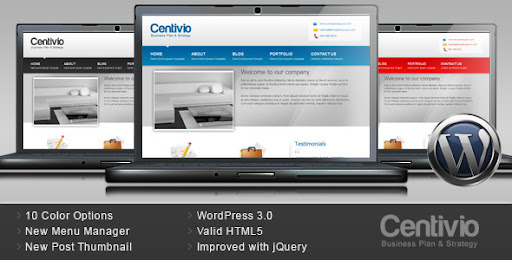 Centivio - Business Wordpress Theme - 10 Colors - Business Corporate