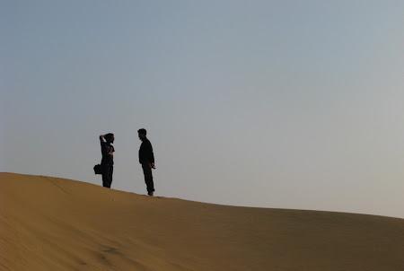 Apus de soare in desertul indian