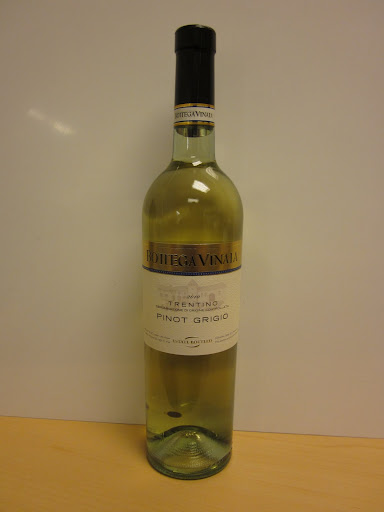 Bottega Vinaia Estate-Bottled Pinot Grigio 2010, Trentino, Italy ($17.99)