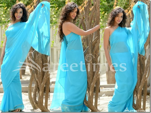 Anupriya_Blue_Georgette_Saree
